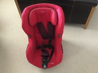 Maxi Cosi Axis red car seat, excellent condition, swivels to face car door for easy transfer