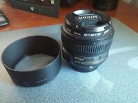 Nikon Nikor AF-S 50 mm f/1.8 g lense with Hoya UV Filter