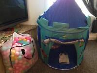 Kids Play Tent With LOADS Of Ball Pit Balls