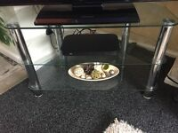 Immaculate glass and chrome tv stand