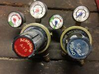 BOC Saffire 3 Oxygen and Acetylene Gauges