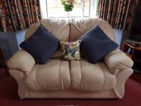 3 seater sofa, 2 seater sofa, recliner chair and footstool - leather