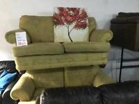 2 fabric 2 seater sofas