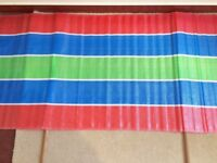 Retro 1980's Vintage Multi-Coloured Striped Windbreaker Beach Holiday Camping Festival