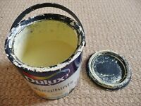 Dulux Natural Hints Daffodil White Light Yellow Matt Paint Walls & Ceilings Almost 1/2 of a 2.5L Tin