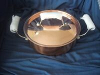 NEW COPPER SERVING PAN BRAND NEW QUALITY ITEM HEAVY 1-35 Kg