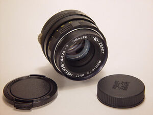 Excellent MC Helios 44M-7 2/58mm M42. 8 aperture blades. Old version.