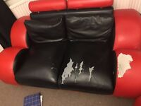 House Clearance SOFA FOR SALE in Romford ( 3 + 2 seater Leather sofas )