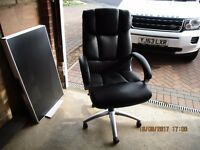 VIKING HELSINKI EXECUTIVE OFFICE CHAIR - HEAVY DUTY LEATHER