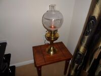 Brass Vintage Electric Oil Lamp