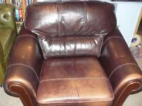 Classic club leather armchairs. Pair only £130.00. Recently reduced to sell!!