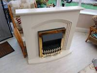 Stand alone electric fire and surround