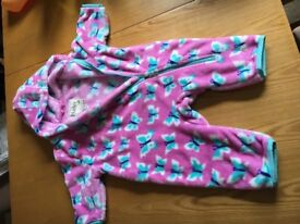 Perfect condition Hayley 6-12 mnth fleece all in one/bundler