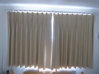 Pair of 'Buttercup' curtains and White Curtain Pole.