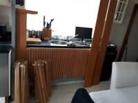 IKEA DOUBLE BED FRAME IN BEECH EFFECT