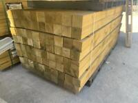 •NEW• PRESSURE TREATED WOODEN FENCING POSTS - 2.4M