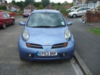2003 NISSAN MICRA 1.4.SX 5 DR MANUAL METALLIC BLUE 108000 MILES WITH VOSA MOT HISTORY