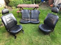 Ford KA front & rear leather seats in black
