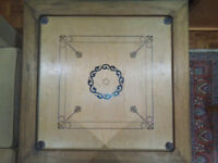 Carrom Board + Stand and Game Pieces/Powder