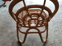 Oyoy mini rainbow rattan childrens chair