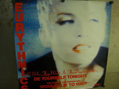 EURYTHMICS Large Rare 1985 PROMO POSTER Be Yourself.... mint condition
