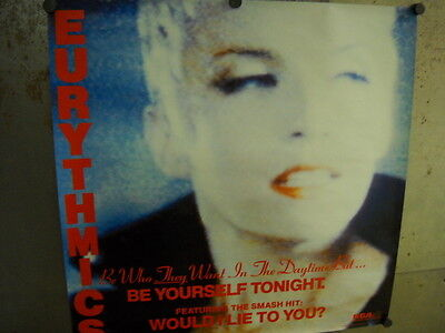 EURYTHMICS Large Rare 1985 PROMO POSTER from Be Yourself