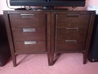 Nice set of wooden tables/drawers