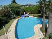 Exotic 6 bedroom holiday villa accommodation with huge pool near sea/sandy beach, Denia, Spain