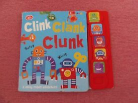 Clink Clank Clunk toddler book with sounds £2