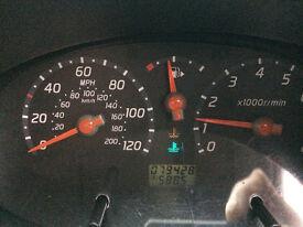 2004 Nissan Micra SE 5 door blue- Parts or Repair, bonnet is not locking