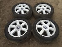 """Ford Focus / transit connect / Mondeo 16"""" original alloy wheels - good tyres"""