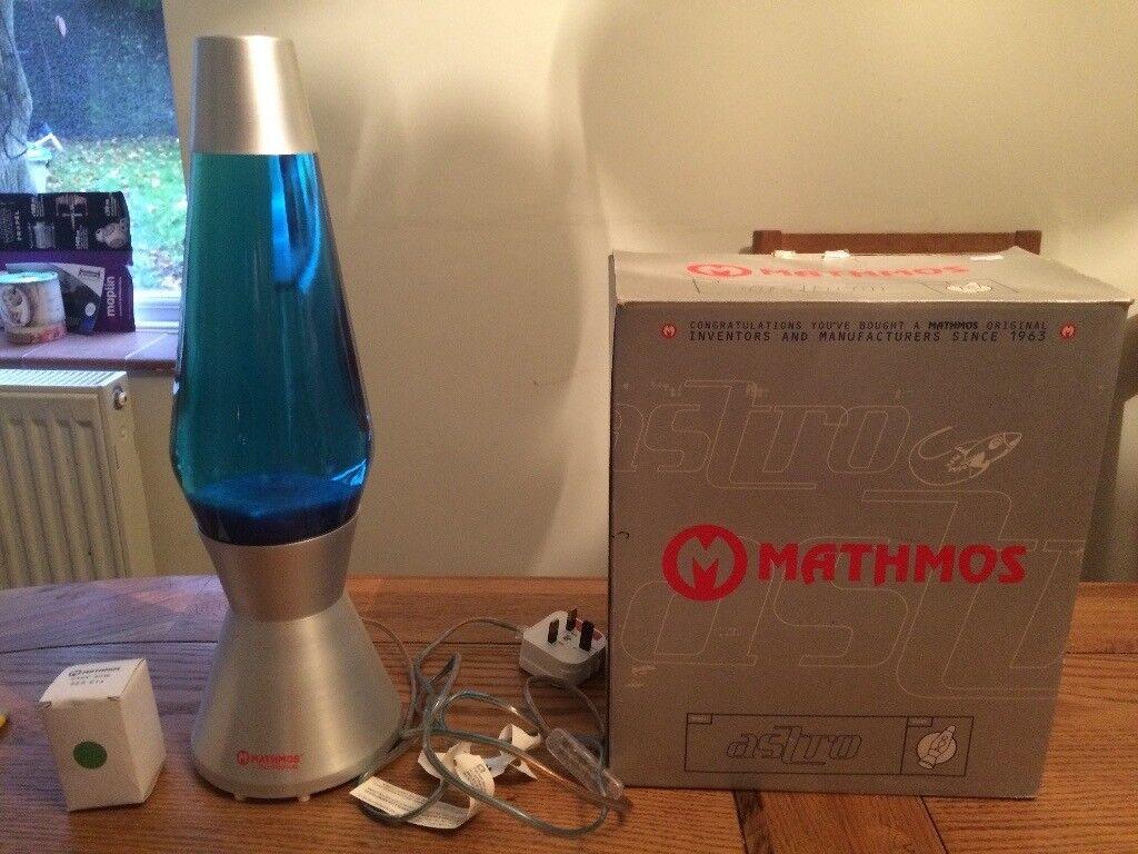 BNIB MATHMOS ASTRO Vintage Original Blue Lava Lamp @ NEW Large