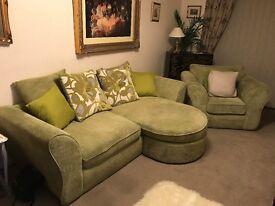 Sofa armchair and cushions