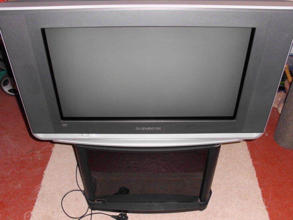 DAEWOO DIGITAL FREEVIEW FLAT-SCREEN CRT TV. Model DUB2850GB. REMOTE