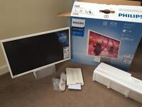 "Brand New PHILIPS 5200 Serie 24"" Full HD Ultra Slim LED TV with Bluetooth speaker"