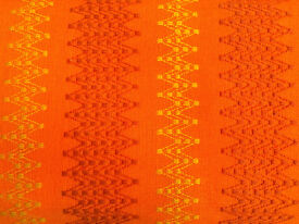 True Vintage 1960/70s Retro Orange Geometric Woven Fabric Roll (L-700cm's x W125cm's)