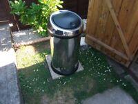 brabantia 50 litre push lid bin chrome/silver