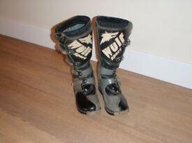wulf sport motocross boots uk 9 mx trails enduro moto x boots