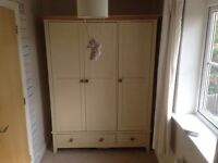 3 door wardrobe with 2 base drawers