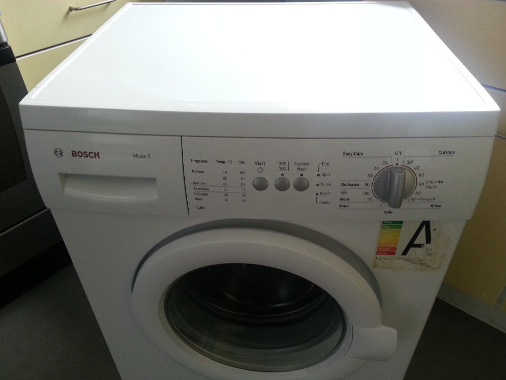 used white bosch maxx 5 washing machine in good condition. Black Bedroom Furniture Sets. Home Design Ideas