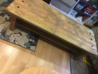 Large Chunky Solid Wood Coffee Table