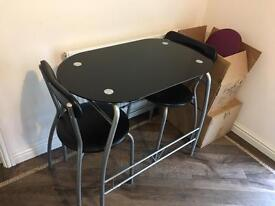 Black 2 seater table