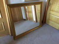 Large antique brass look mirror