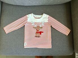 Next Christmas top. Size 12-18 months