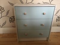LOVELY CHEST OF PAINTED PINE DRAWERS