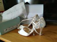 Designer Charlotte Mills original bridal shoes size 3