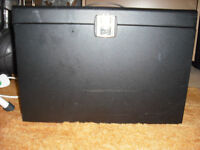 Metal Filing Case with Key and Folders