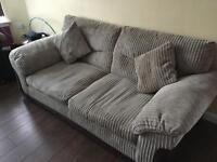 brown Sofa & Chair