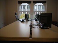 4 to 8 Person flexible office space to rent in Central Croydon/£75 per person per week.