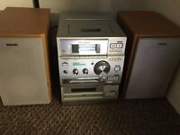 Sony Stereo. With CD, Minidisc, Tape and radio. With twin speakers and remote. Excellent Condition